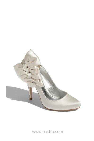 Platform Shoe Corsage Trimdune Velocity Wedding Shoes